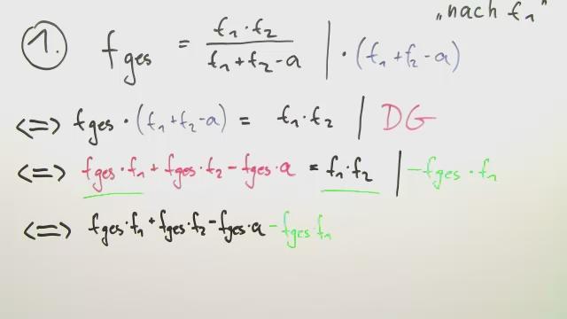 umstellen von formeln und gleichungen
